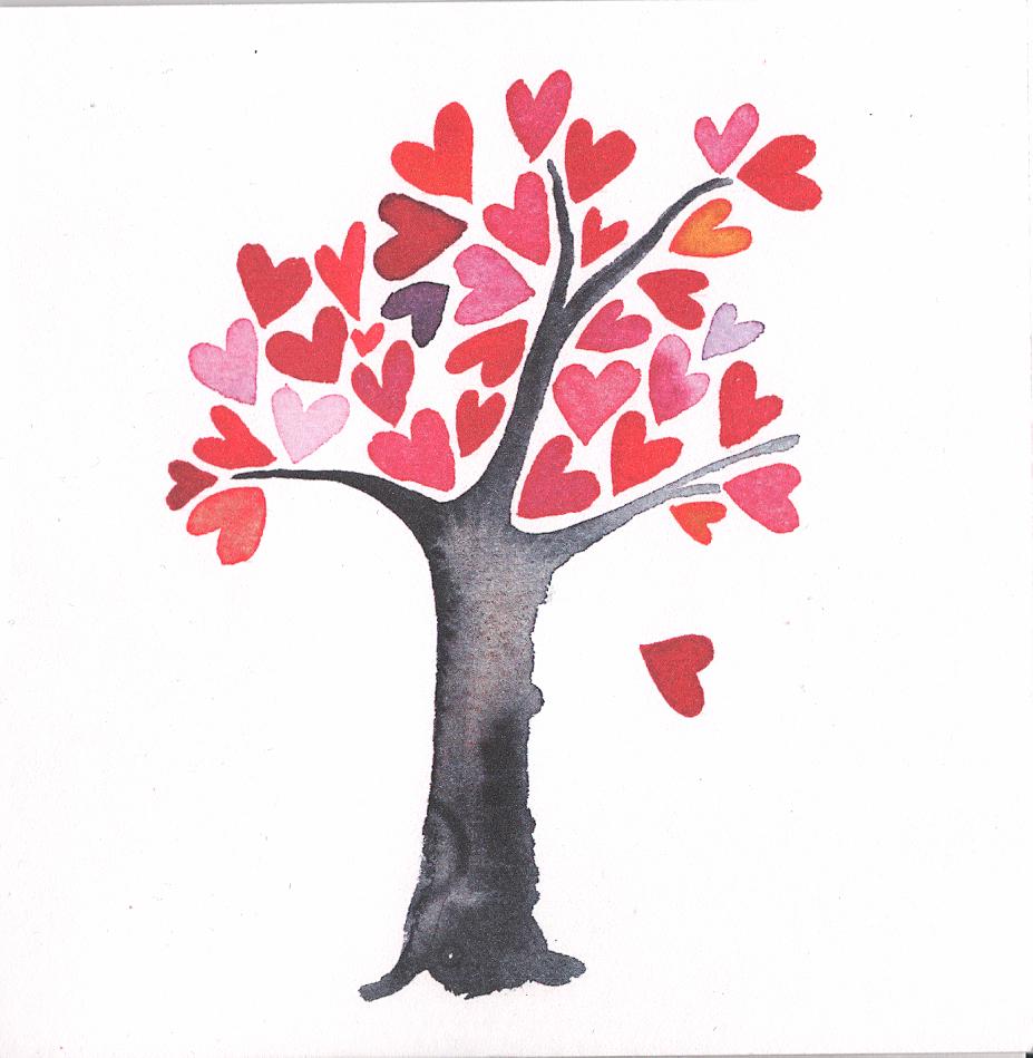 Kort 43 Hjärtan träd | Folkelind Form