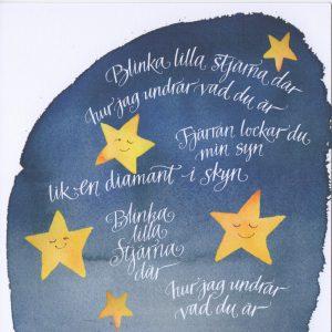 Kort 54 Blinka lilla stjärna där