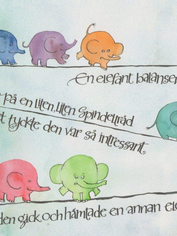 Kort 55 En elefant balansearade