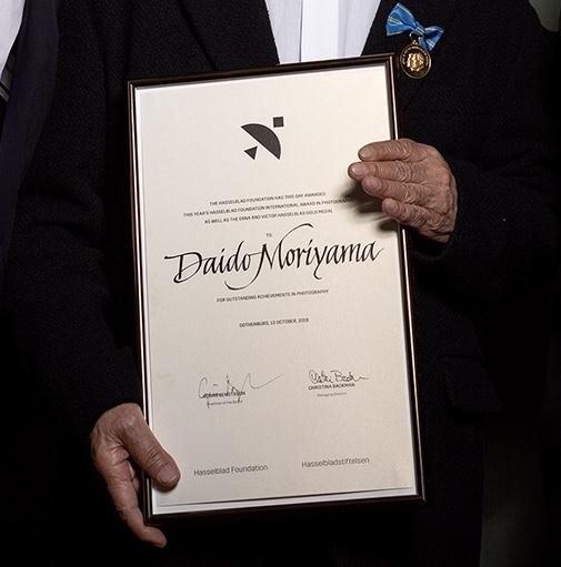 Daido Moriyama fick mitt diplom